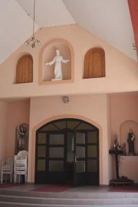 A kápolna főbejárata