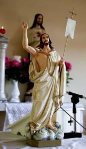 A feltámadott Jézus jelképszobra
