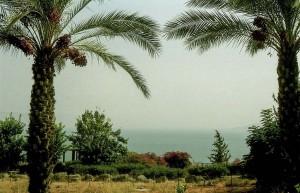 A Genezáreti-tó a Nyolc Boldogság-templomtól nézve.