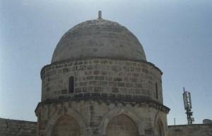 Jeruzsálem, Olajfák hegye A Mennybemenetel templom (ma dzsámi) részlete.