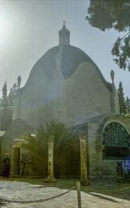 Jeruzsálem, Olajfák hegye. A Dominus Flevit (Ahol az Úr Sírt) templom.