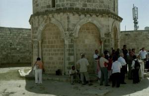 Jeruzsálem, Olajfák hegye. A Mennybemenetel-templom részlete.