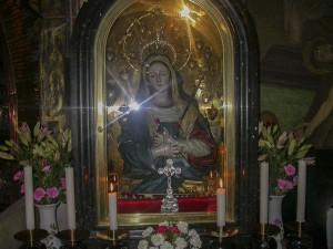 Jeruzsálem, Szent Sír-templom, Keresztrefeszítés kápolna. A Fájdalmas Anya oltára.