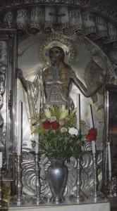 Jeruzsálem, Szent Sír-templom. A feltámadott Jézus ezüst ikonja a Szent Sírban.
