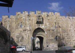 Jeruzsálem. Az Oroszlános kapunál.