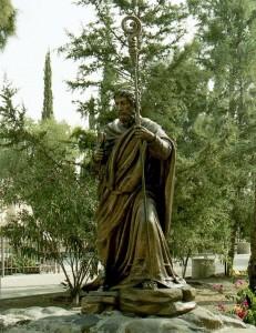 Kafarnaim. Szent Péter jelképszobra.