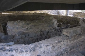 Kafarnaum, a Szent Péter háza fölé épített templom maradcányai