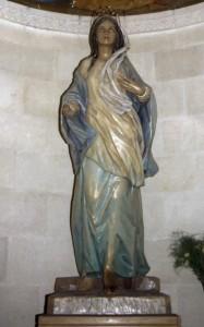 Názáret, Szent József-templom. Názáreti Mária-szobor.
