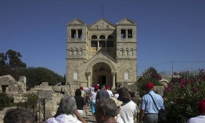 Tábor-hegy. A Színeváltozás Bazilika